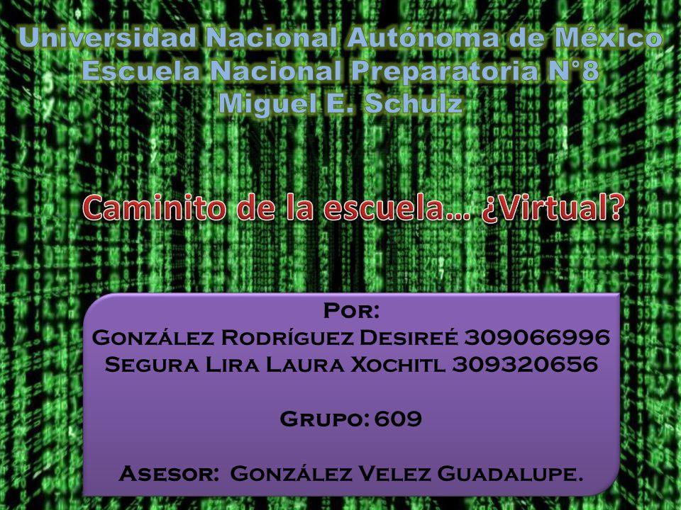 Por: González Rodríguez Desireé 309066996 Segura Lira Laura Xochitl 309320656 Grupo: 609 Asesor: González Velez Guadalupe.