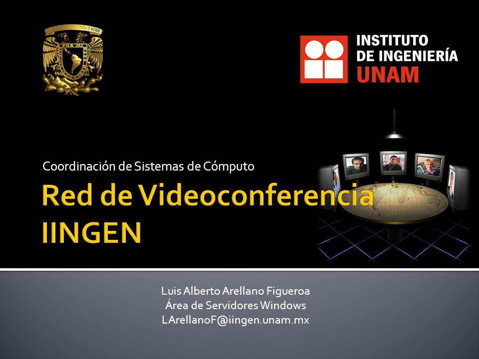 Coordinación de Sistemas de Cómputo Luis Alberto Arellano Figueroa Área de Servidores Windows LArellanoF@iingen.unam.mx