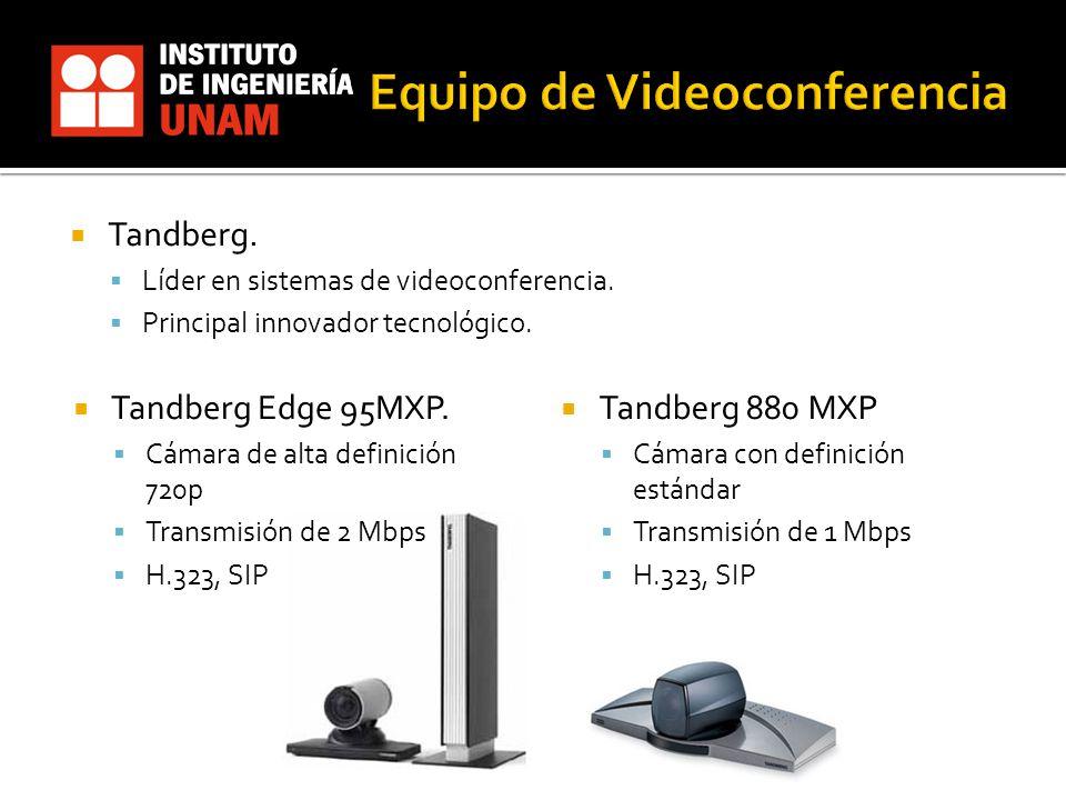 Tandberg Edge 95MXP. Cámara de alta definición 720p Transmisión de 2 Mbps H.323, SIP Tandberg 880 MXP Cámara con definición estándar Transmisión de 1