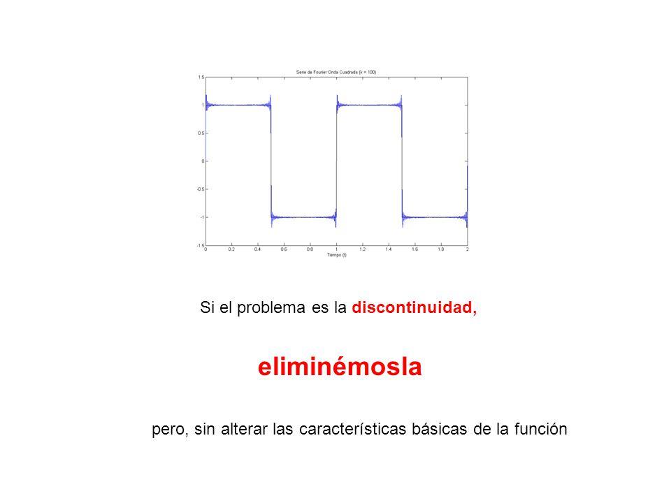 Si el problema es la discontinuidad, eliminémosla pero, sin alterar las características básicas de la función