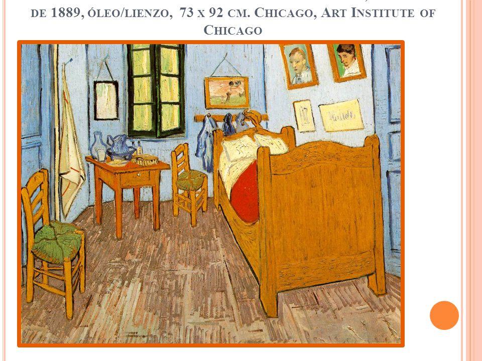 L A HABITACIÓN DE V AN G OGH EN A RLES S AINT R ÉMY, SEPTIEMBRE DE 1889, ÓLEO / LIENZO, 73 X 92 CM. C HICAGO, A RT I NSTITUTE OF C HICAGO