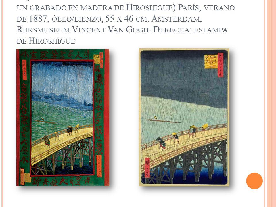 A UTORRETRATO CON RETRATO DE B ERNARD O L OS MISERABLES 1888, ÓLEO / LIENZO, 45 X 55 CM.