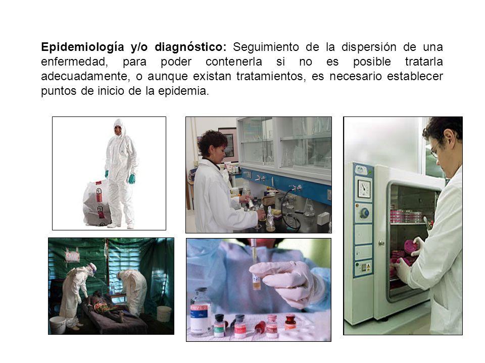Epidemiología y/o diagnóstico: Seguimiento de la dispersión de una enfermedad, para poder contenerla si no es posible tratarla adecuadamente, o aunque