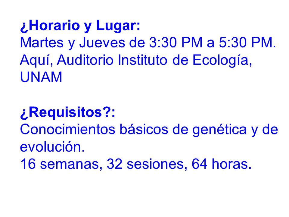 ¿Horario y Lugar: Martes y Jueves de 3:30 PM a 5:30 PM.