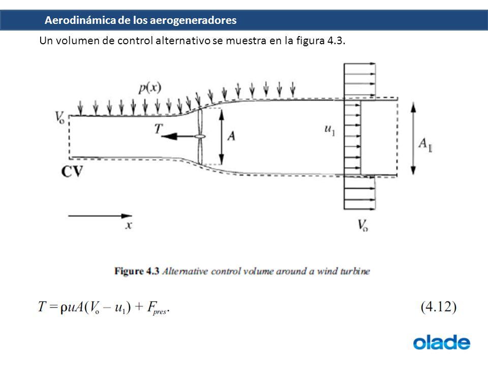Un volumen de control alternativo se muestra en la figura 4.3.