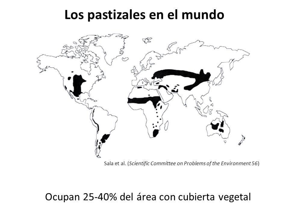 Tipos de pastizales en Norteamérica Pastizal alto Pastizal corto Pastizal mixto Pastizal macollado del NW Pastizal de montaña Pastizal desértico Sims et al.