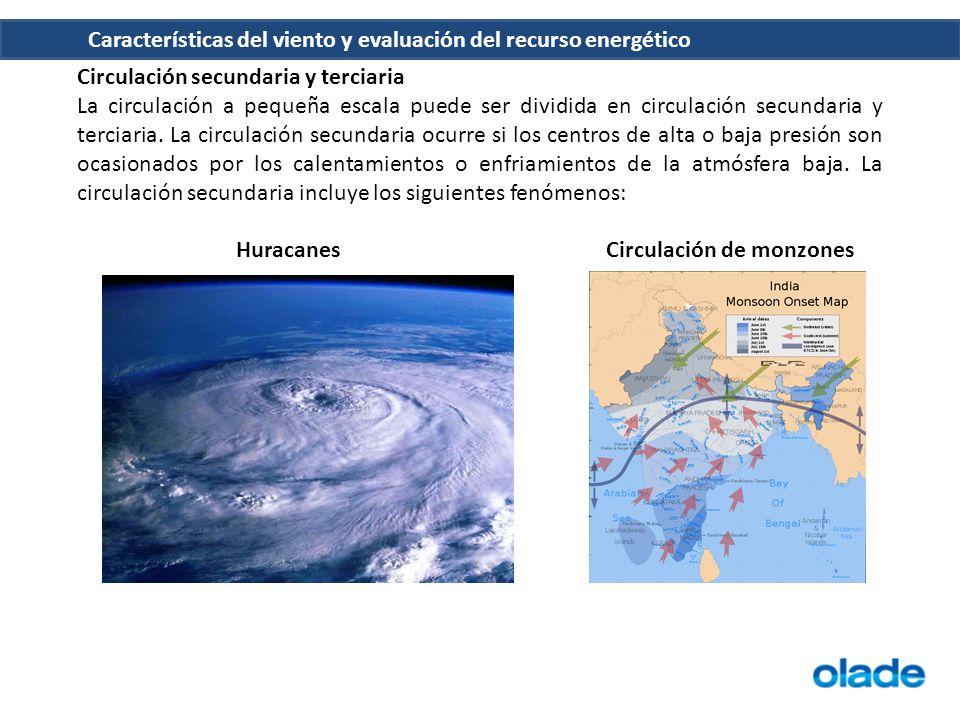 Características del viento y evaluación del recurso energético Diarias En las latitudes tropicales y templadas, pueden presentarse grandes variaciones en el viento a lo largo del día.