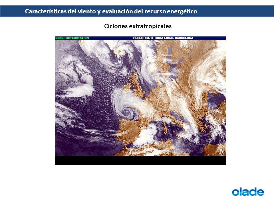 Características del viento y evaluación del recurso energético Perfil vertical de la velocidad del viento Los vientos están mucho más influenciados por la superficie terrestre a altitudes de hasta 100 metros.