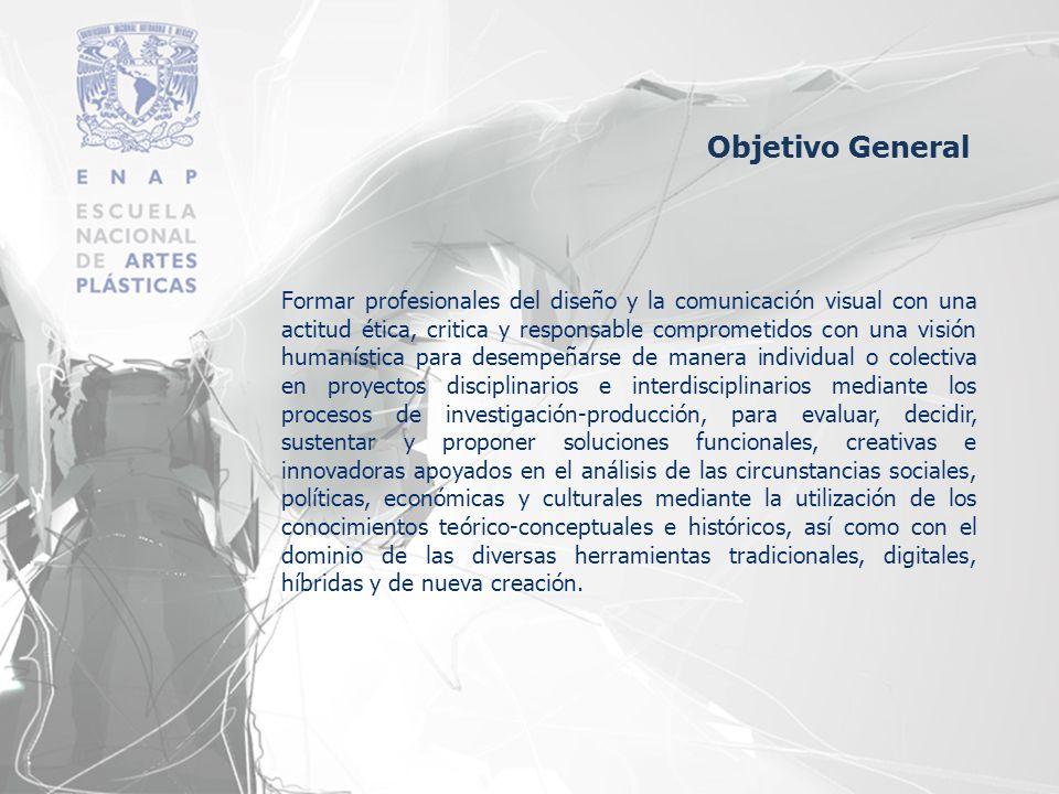 Formar profesionales del diseño y la comunicación visual con una actitud ética, critica y responsable comprometidos con una visión humanística para de