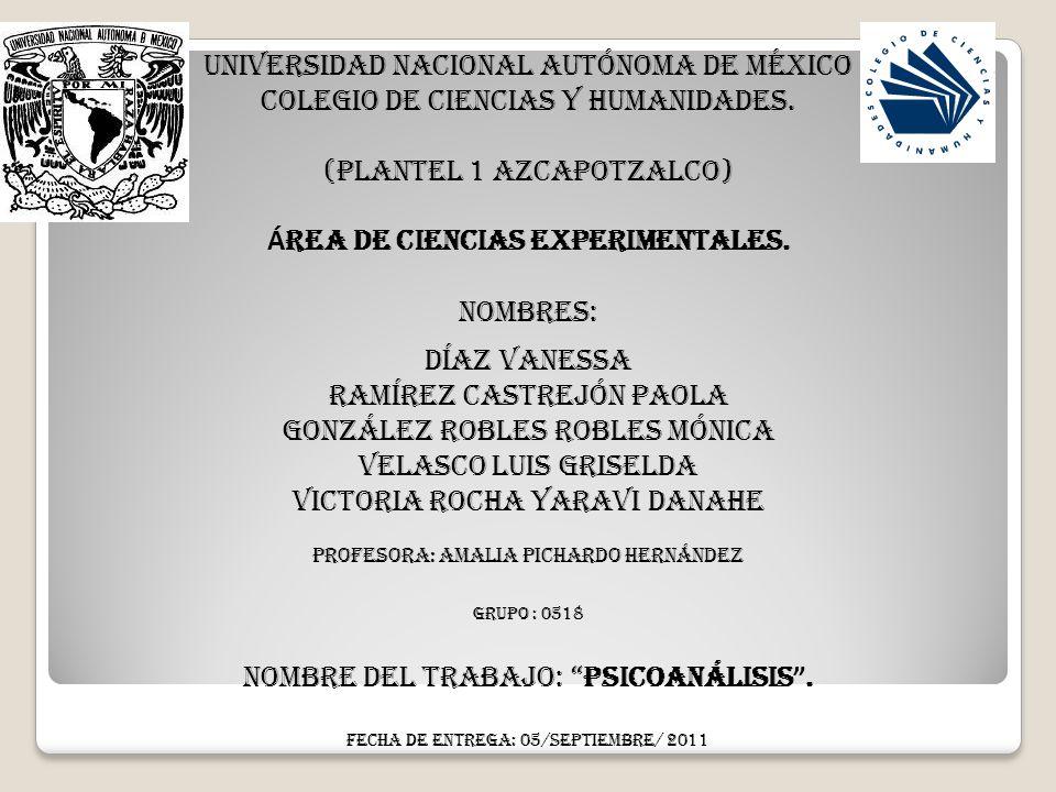 Universidad Nacional AutÓnoma de MÉXico Colegio de Ciencias y Humanidades. (Plantel 1 Azcapotzalco) Á rea de Ciencias experimentales. Nombres: Díaz Va