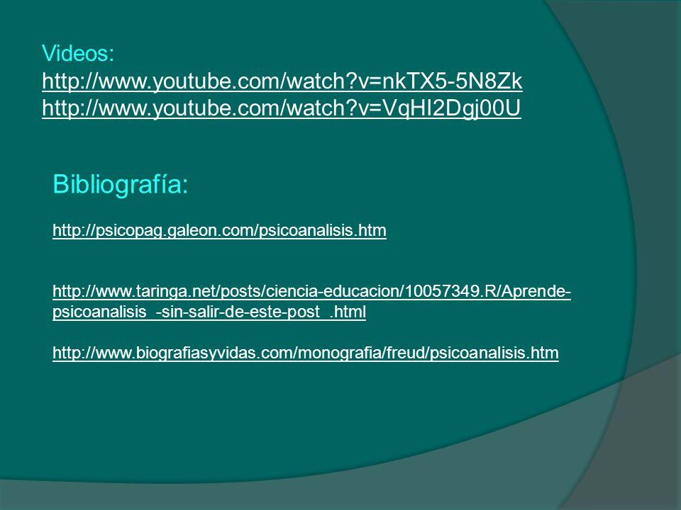 Bibliografía: http://psicopag.galeon.com/psicoanalisis.htm http://www.taringa.net/posts/ciencia-educacion/10057349.R/Aprende- psicoanalisis_-sin-salir
