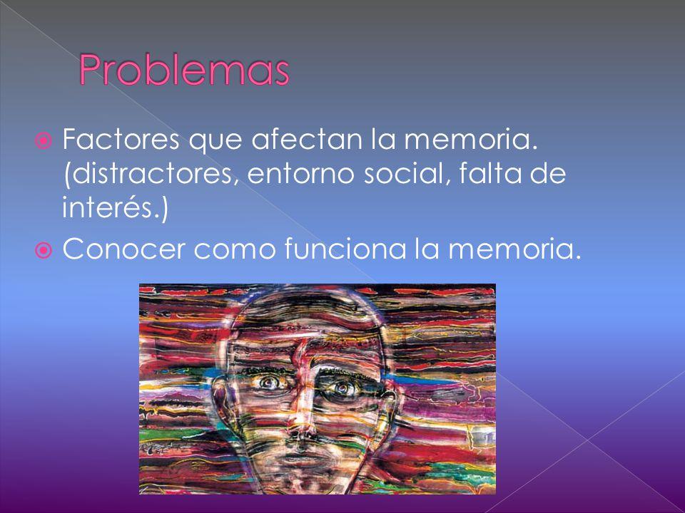 Factores que afectan la memoria.
