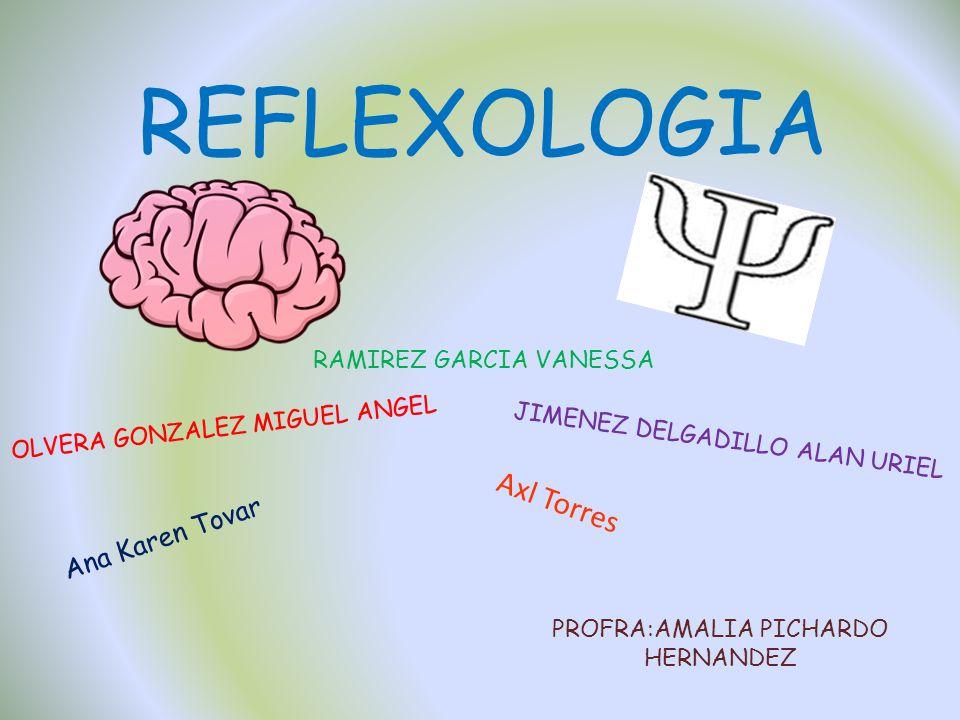 REFLEXOLOGIA OLVERA GONZALEZ MIGUEL ANGEL JIMENEZ DELGADILLO ALAN URIEL RAMIREZ GARCIA VANESSA PROFRA:AMALIA PICHARDO HERNANDEZ Ana Karen Tovar Axl To