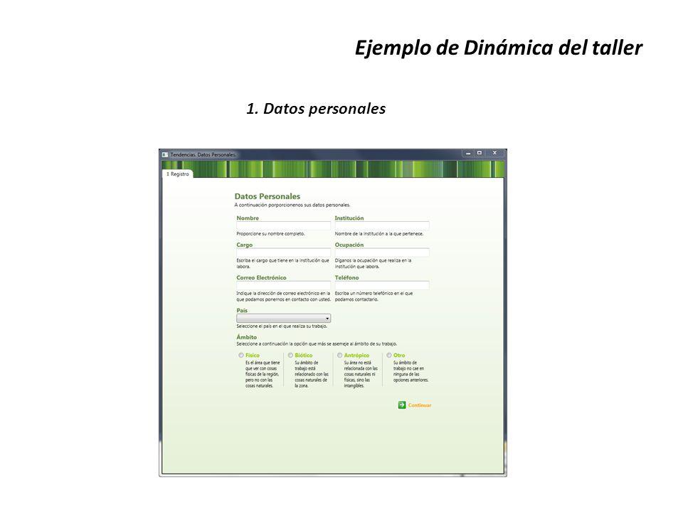 Ejemplo de Dinámica del taller 1. Datos personales
