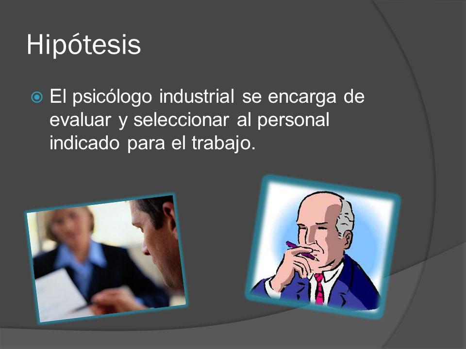 Objetivos: Mediante la entrevista, conocer que actividades realiza un psicólogo industrial.