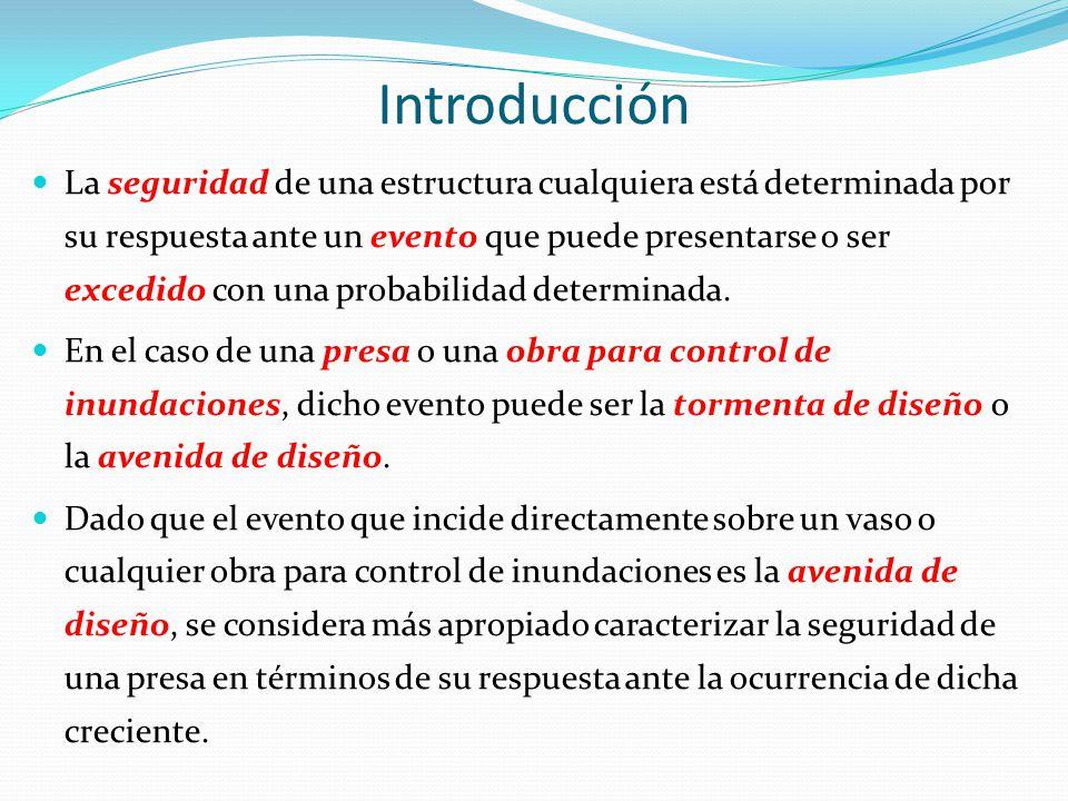 Introducción La seguridad de una estructura cualquiera está determinada por su respuesta ante un evento que puede presentarse o ser excedido con una p