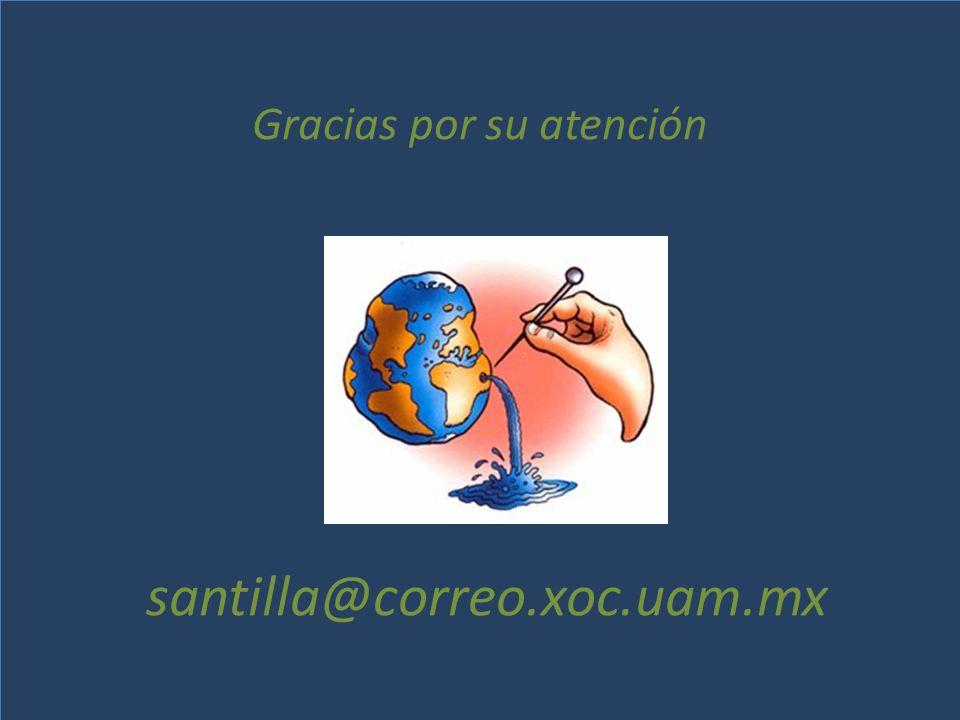 Gracias por su atención santilla@correo.xoc.uam.mx