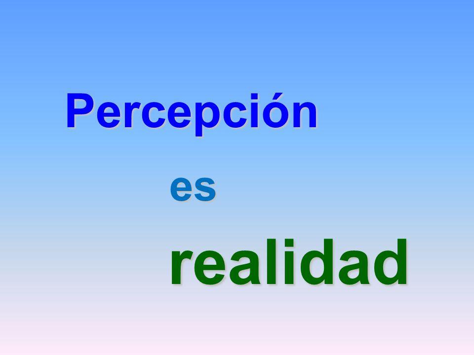 Percepción es esrealidad