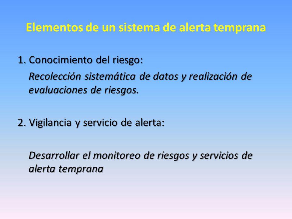 Elementos de un sistema de alerta temprana 1.