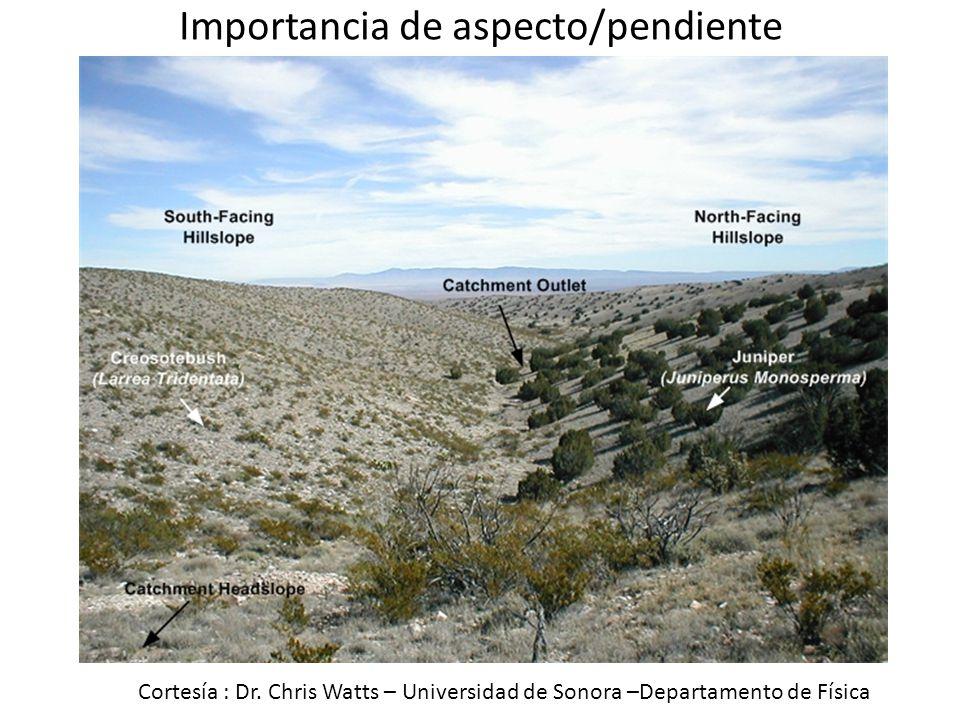Importancia de aspecto/pendiente Cortesía : Dr. Chris Watts – Universidad de Sonora –Departamento de Física