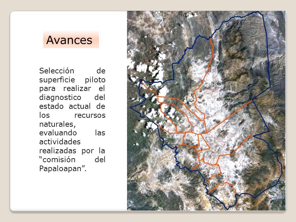 Selección de superficie piloto para realizar el diagnostico del estado actual de los recursos naturales, evaluando las actividades realizadas por la c
