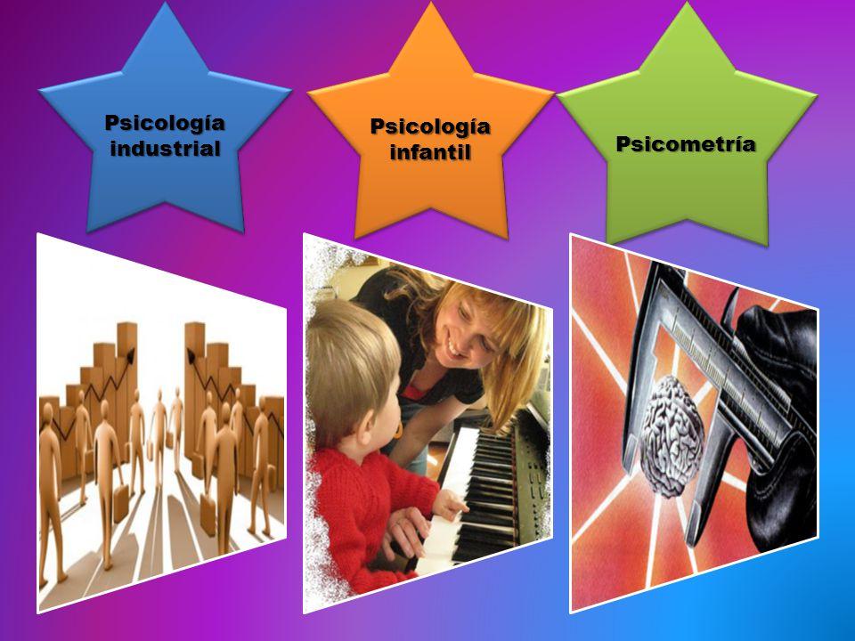 Psicología industrial Psicología infantil PsicometríaPsicometría