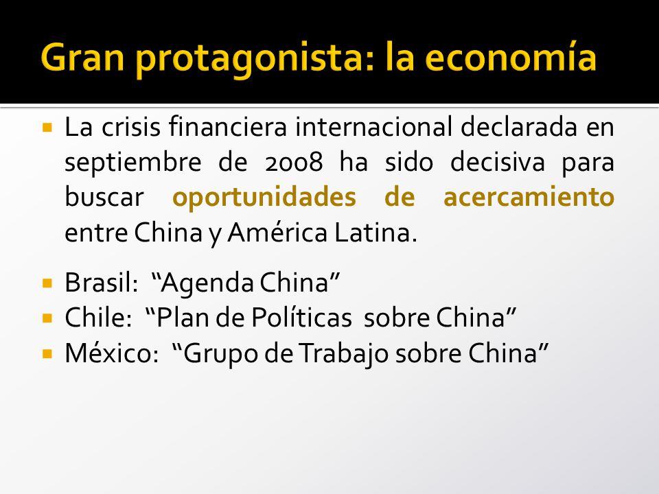 La crisis financiera internacional declarada en septiembre de 2008 ha sido decisiva para buscar oportunidades de acercamiento entre China y América Latina.