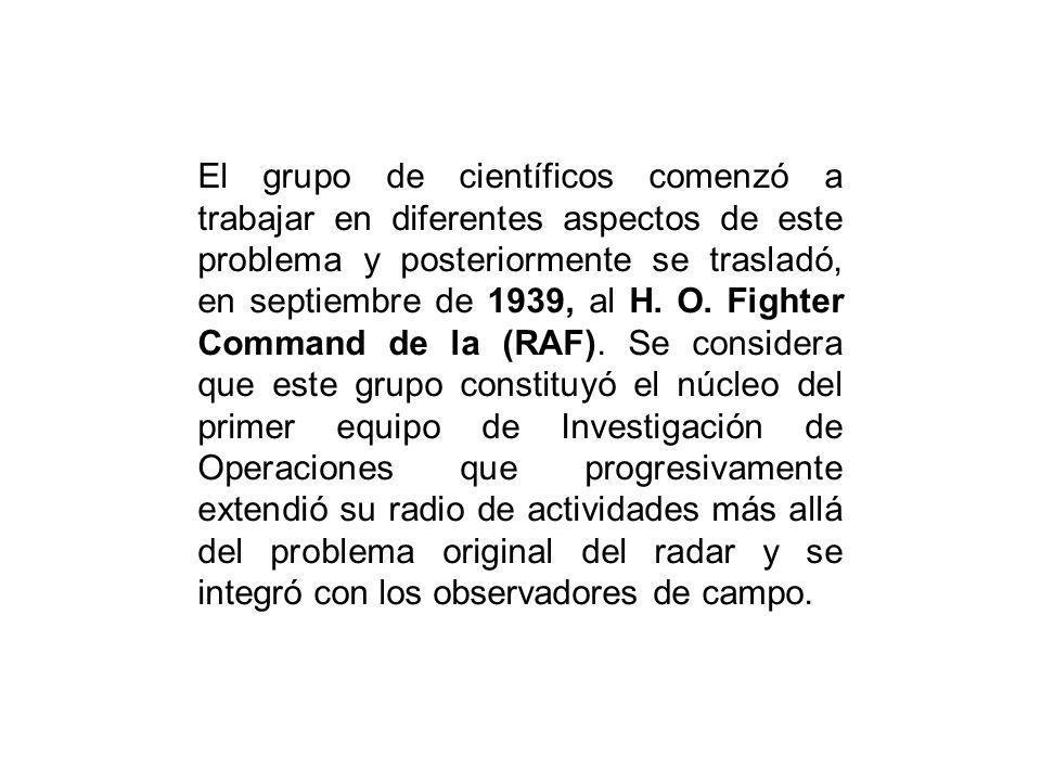 El grupo de científicos comenzó a trabajar en diferentes aspectos de este problema y posteriormente se trasladó, en septiembre de 1939, al H. O. Fight