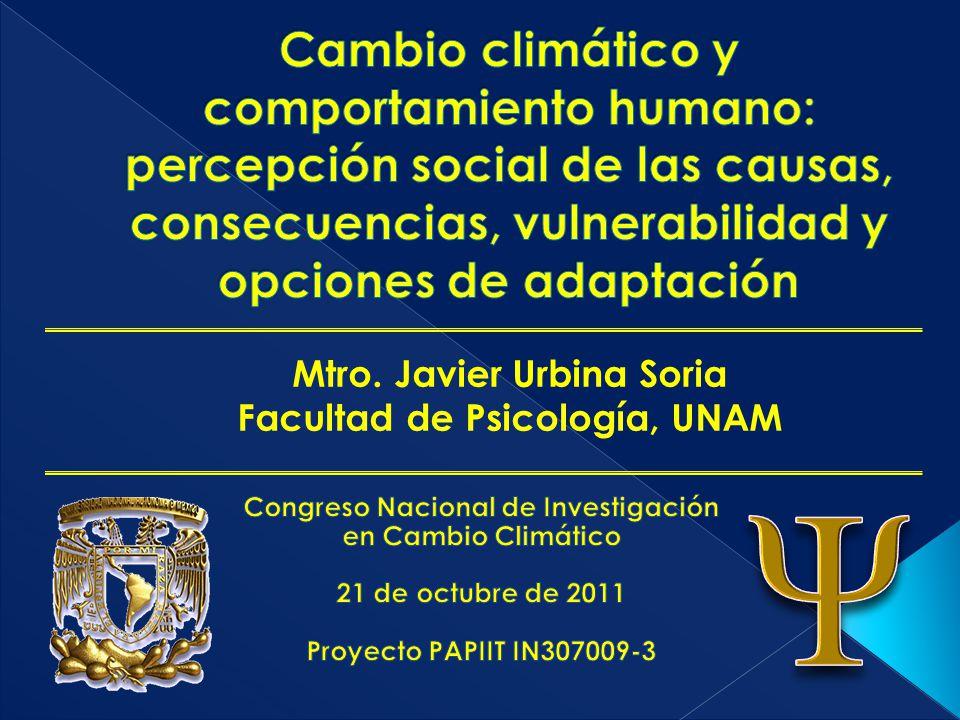 Mtro. Javier Urbina Soria Facultad de Psicología, UNAM