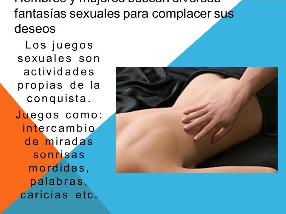 Hombres y mujeres buscan diversas fantasías sexuales para complacer sus deseos Los juegos sexuales son actividades propias de la conquista. Juegos com