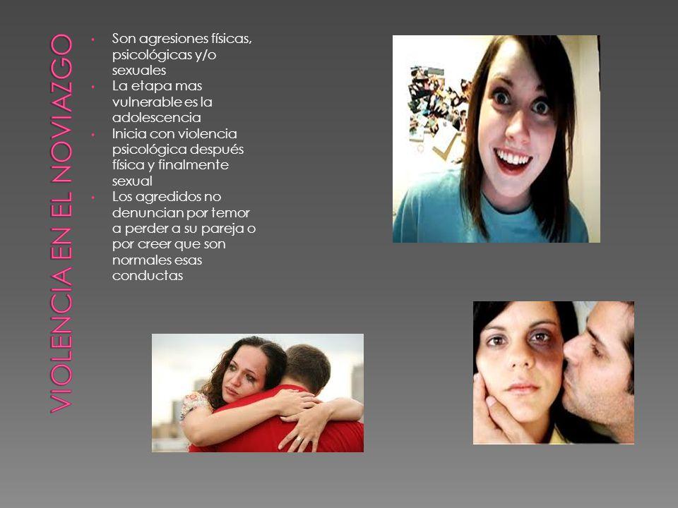 Son agresiones físicas, psicológicas y/o sexuales La etapa mas vulnerable es la adolescencia Inicia con violencia psicológica después física y finalme