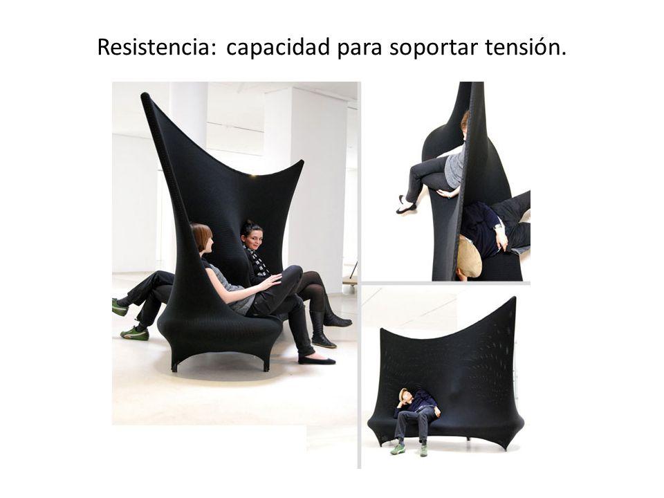 Resistencia: capacidad para soportar tensión.