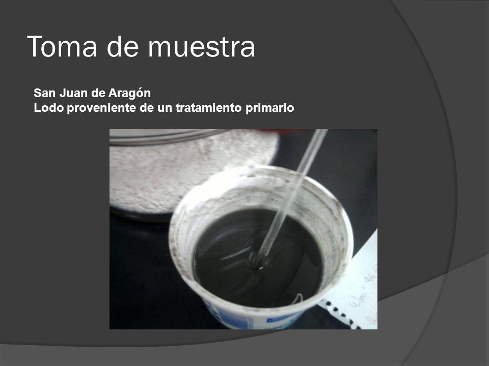 Toma de muestra San Juan de Aragón Lodo proveniente de un tratamiento primario