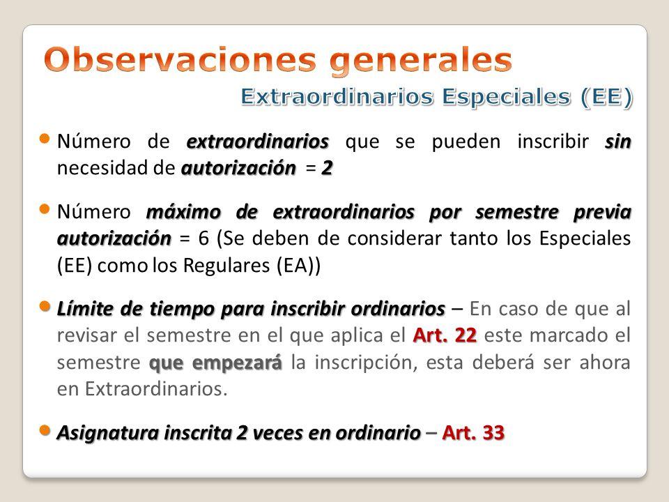 extraordinariossin autorización2 Número de extraordinarios que se pueden inscribir sin necesidad de autorización = 2 máximo de extraordinarios por sem