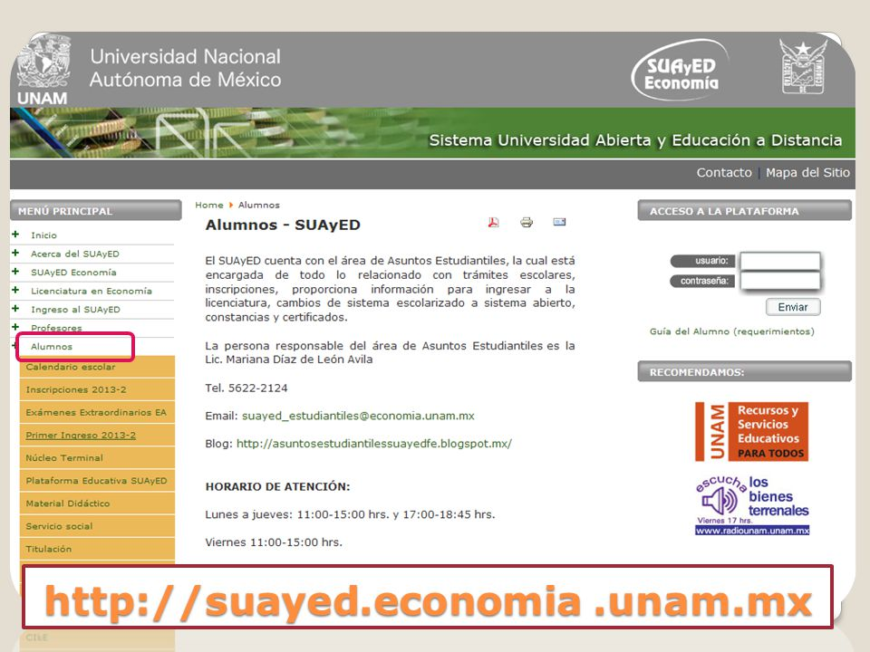 http://suayed.economia.unam.mx