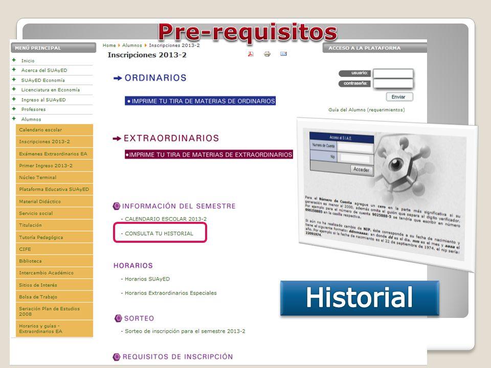 Selección de las asignaturas Click en el botón de la clave de la asignatura para ver los grupos, modalidades, horarios y profesores, cupos disponibles.