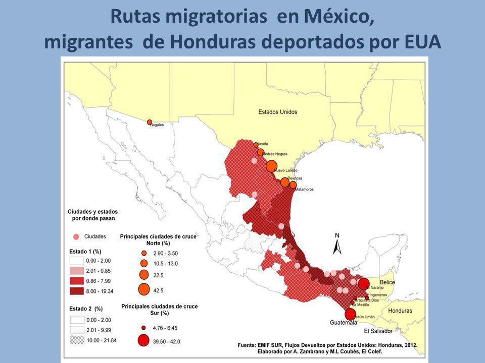 Rutas migratorias en México, migrantes de Honduras deportados por EUA