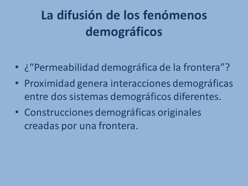 La difusión de los fenómenos demográficos ¿Permeabilidad demográfica de la frontera? Proximidad genera interacciones demográficas entre dos sistemas d