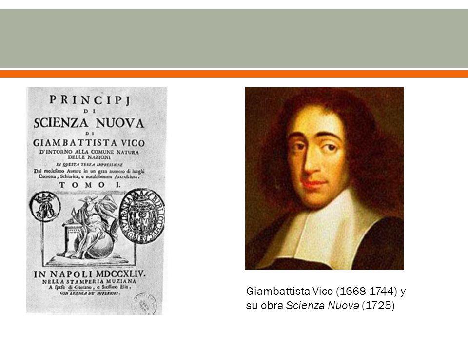 Giambattista Vico (1668-1744) y su obra Scienza Nuova (1725)