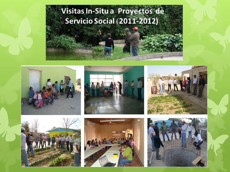 Visitas In-Situ a Proyectos de Servicio Social ( 2011-2012)
