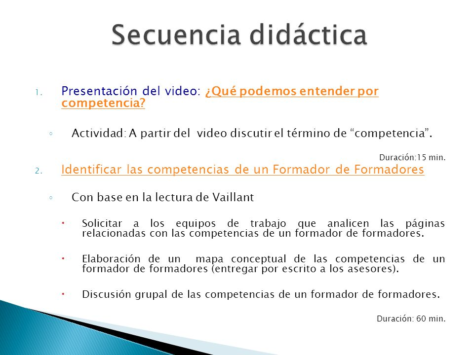 1. Presentación del video: ¿Qué podemos entender por competencia?¿Qué podemos entender por competencia? Actividad: A partir del video discutir el térm