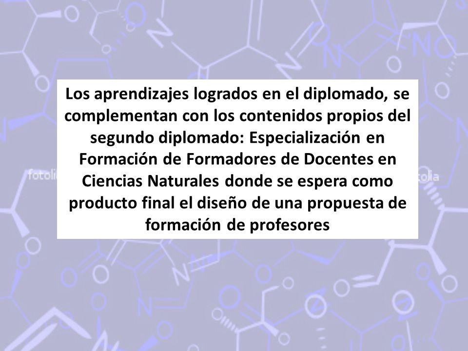 Los aprendizajes logrados en el diplomado, se complementan con los contenidos propios del segundo diplomado: Especialización en Formación de Formadore