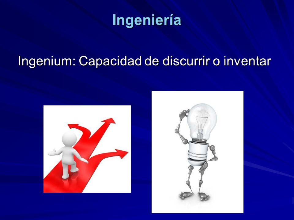 Ingeniería Ingenium: Capacidad de discurrir o inventar