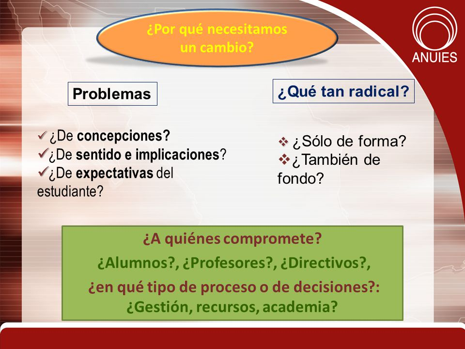 4 ¿De concepciones.¿De sentido e implicaciones . ¿De expectativas del estudiante.