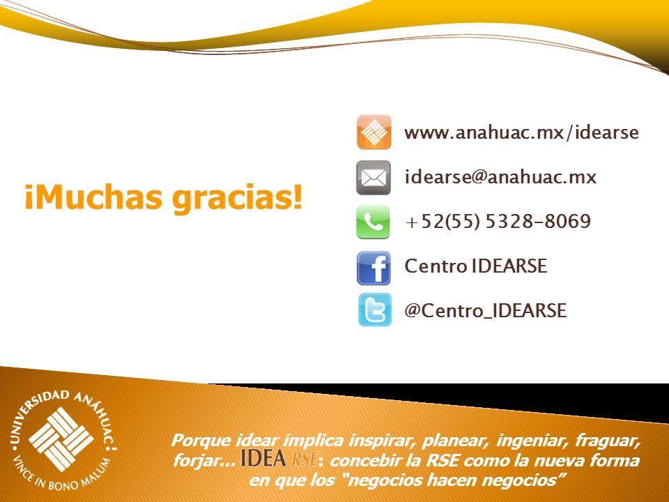 www.anahuac.mx/idearse idearse@anahuac.mx +52(55) 5328-8069 Centro IDEARSE @Centro_IDEARSE Porque idear implica inspirar, planear, ingeniar, fraguar,