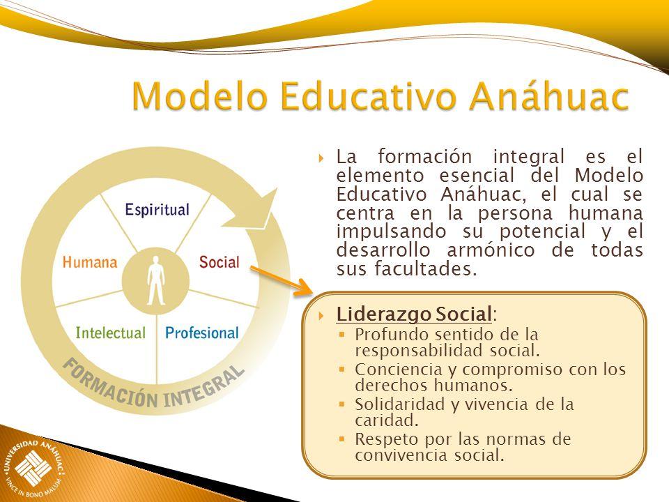 La formación integral es el elemento esencial del Modelo Educativo Anáhuac, el cual se centra en la persona humana impulsando su potencial y el desarr