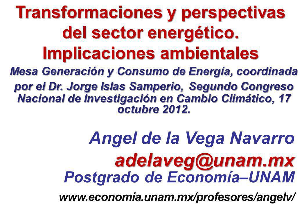 Mesa Generación y Consumo de Energía, coordinada por el Dr.