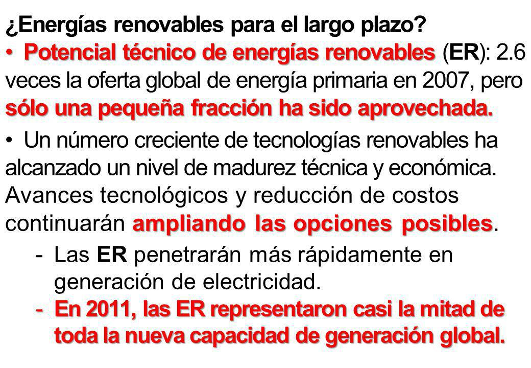 ¿Energías renovables para el largo plazo.