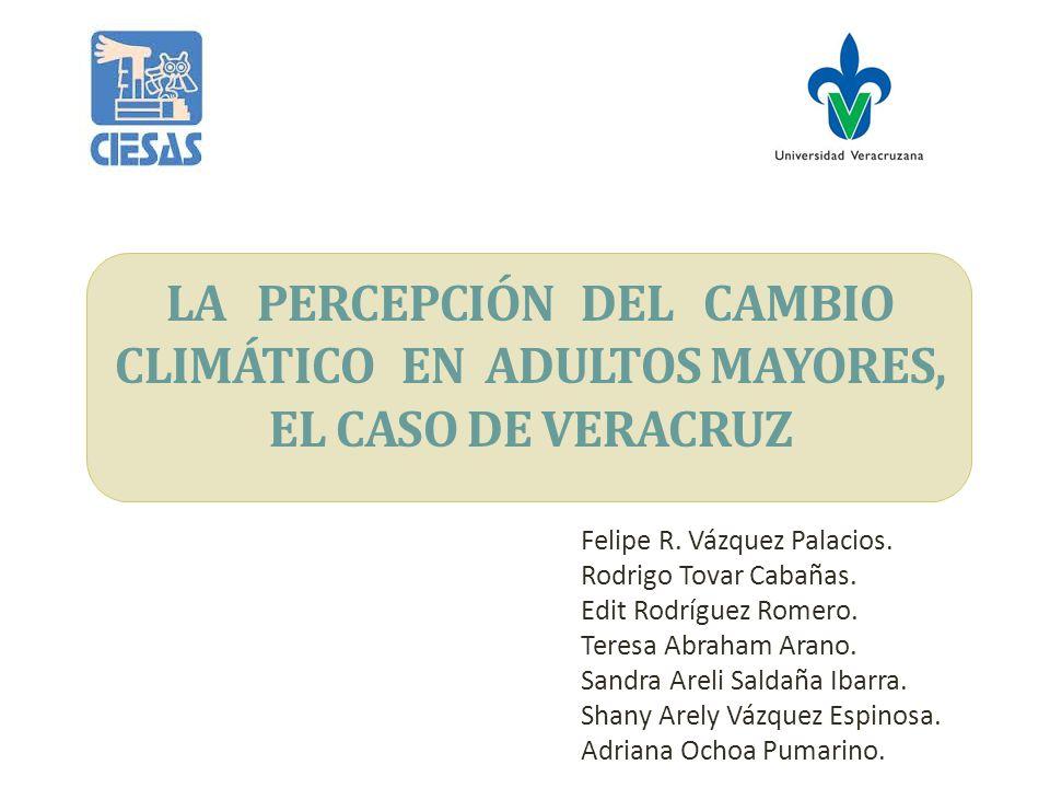 Objetivo Dar a conocer los primeros hallazgos sobre la percepción de la población de 60 años y más con relación al cambio climático y sus efectos sobre la salud.