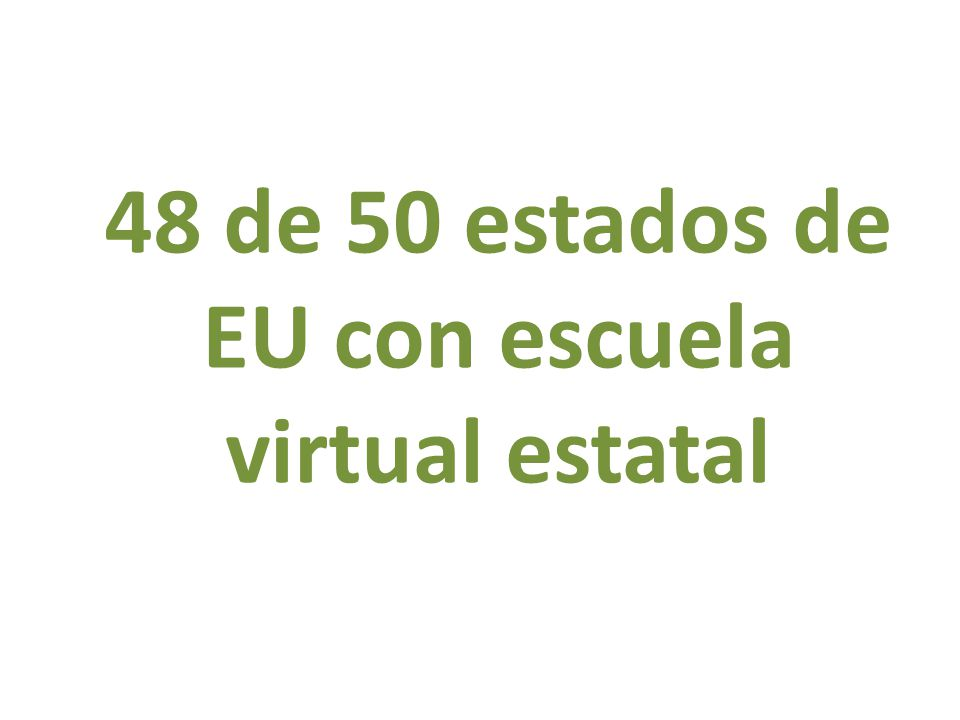 48 de 50 estados de EU con escuela virtual estatal